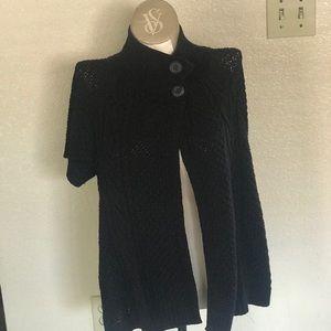 Sonoma black cable knit cardigan XL